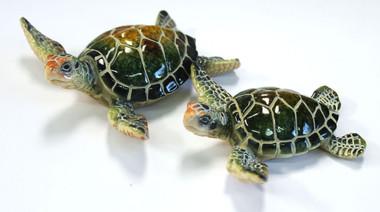 4 25 Quot Green Resin Sea Turtle Figurine Nautical Sea Decor