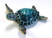 "4.25"" Blue Resin Sea Turtle"