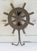 Rusty Ship Wheel Hook