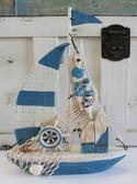 Blue & White Sail Boat