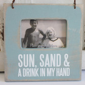 Sun, Sand & Drink in My Hand Mini Frame
