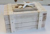 Wood Box with Starfish & Shells