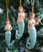 Glitter Tail Mermaid Ornaments