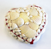 White Seashell Heart Trinket Box