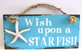 Wish Upon a Starfish wood sign