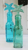 Blue & Green Glass Bottles