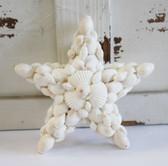 White Glitter Shell Star Ornament