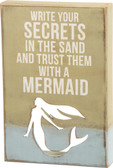 Secrets in the Sand Mermaid Sign