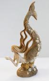 Mermaid Statue Holding Pearl