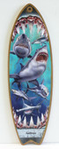 Shark Attack Surfboard Sign