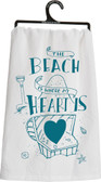 The Beach is Where My Heart Is  Tea Towel