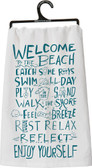 Welcome to the Beach Tea Towel