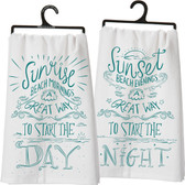 Sunrise Beach Mornings - Sunset Beach Evenings - Cotton Tea Towel Set