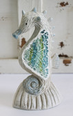 Crushed Glass Sea Horse Figure