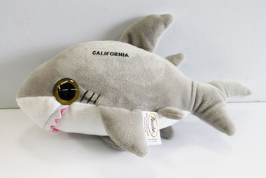 Grey shark plush sea life stuffed animal california for Life size shark plush
