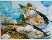 Shells, Starfish & Candles Canvas Picture