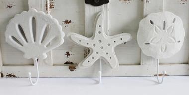 Scallop, Starfish & Sand Dollar Hooks