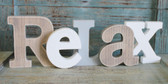 Relax Word Sign