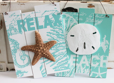 Coastal Relax & Beach Signs