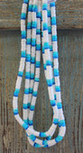 1 Dozen White & Blue Puka Necklaces