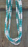 White & Turquoise Puka Shell Necklaces