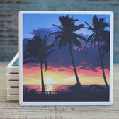 Palms & Sunset Coaster