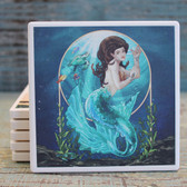 Blue Mermaid Coaster