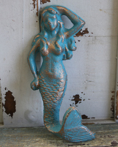 Blue & Gold Mermaid Hook