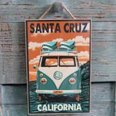 VW Bus Santa Cruz Sign
