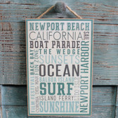 Newport Beach Typography Sign
