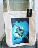 Diving Sea Turtle Tote Bag