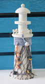 White Lighthouse with Fish Net