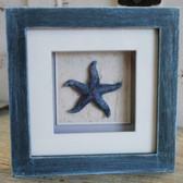 Blue Starfish Shadow Box