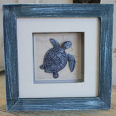 Blue Sea Turtle Shadow Box