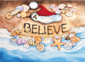 Believe Santa Hat Christmas Card
