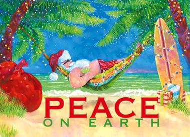 hammock santa christmas cards hammock santa claus holiday cards   coastal christmas stationery      rh   caseashells