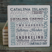 Catalina Island Typography Coaster