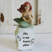 This is my Happy Place Mermaid Statue