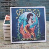 San Diego Orange Mermaid Coaster