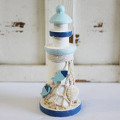 Small White & Blue Lighthouse