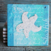 White Bahama Starfish Coaster