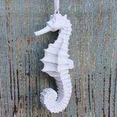 White Glitter Seahorse Ornament