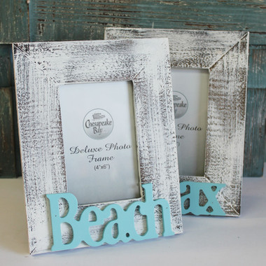 white washed beach frame