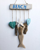 Beach Sign with Mermaid & Hearts