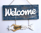 Welcome Sign with Mermaid Dangle
