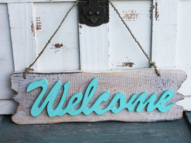 Wood Welcome Sign