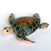 "Green 5"" Resin Turtle Figurine"