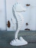 White Iron Seahorse Figure
