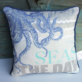 Seas the Day Octopus Pillow