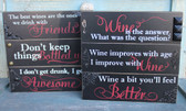 Black, Red & White Wine Signs